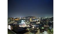 最上階客室 松山市街の風景