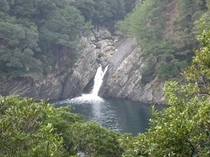 トローキの滝(滝壺・太平洋)