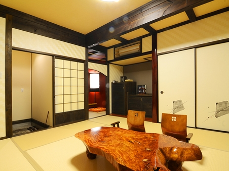 【讃徳】半露天風呂付き離れの一軒家(2階建て・和洋室)