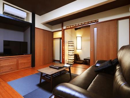 【誉徳】半露天風呂付き離れの一軒家(2階建て・和洋室)