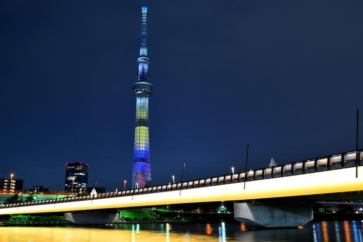 桜橋と東京スカイツリー