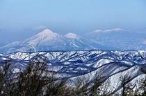 プロムナードコースからの会津磐梯山