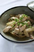 山ウドと鶏肉の味噌炒め