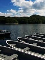 羽鳥湖のボート乗場