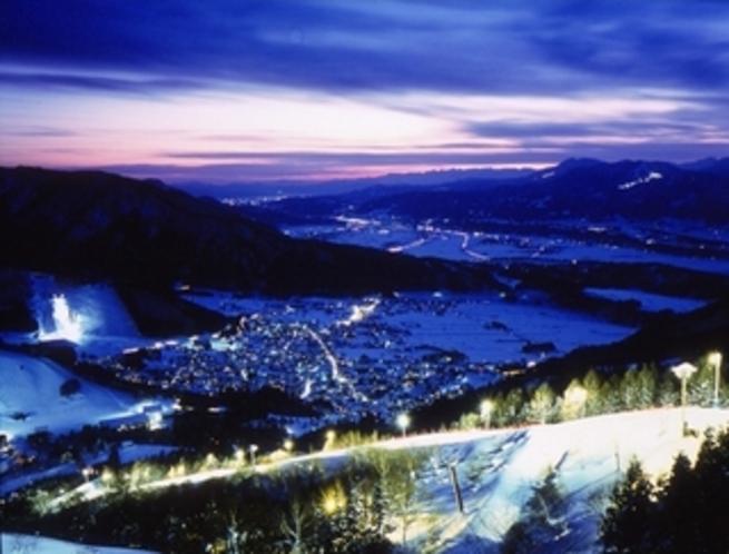 野沢 冬の夜景