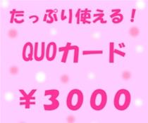 QUOカード¥3000プラン
