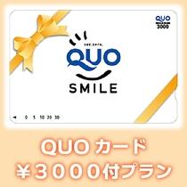 クオカード3000円付