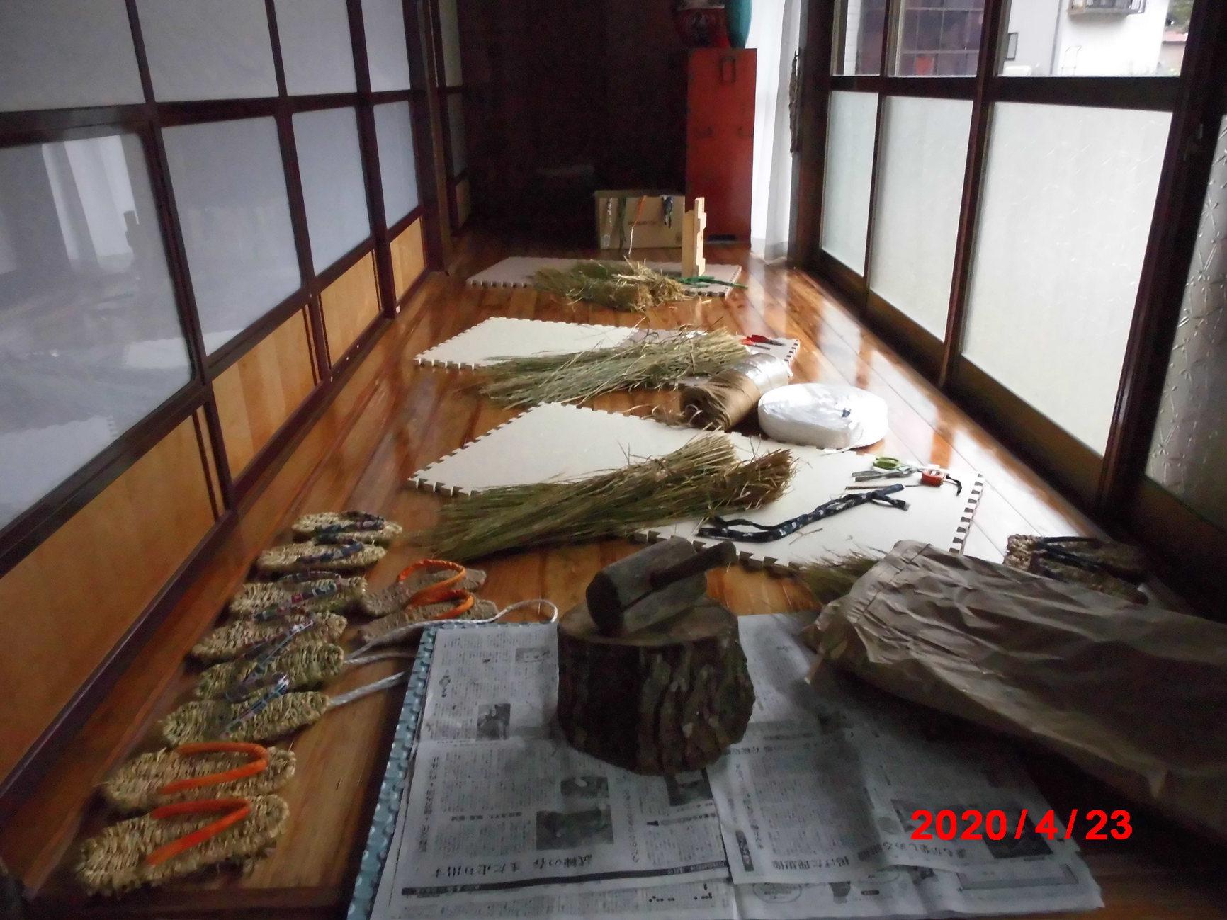 藁ぞうり作り
