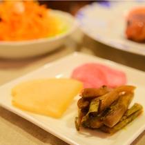*[夕食一例]信州のお漬物3品