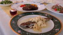 *【夕食特別コース例】メインが2皿(肉&魚)になり、サブオードブル・食前酒もご提供。