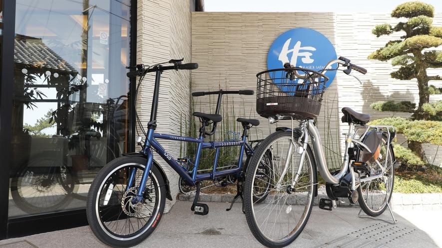 自転車に乗って丹後の海辺を楽しんで下さい