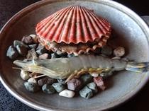 長太郎貝の陶板焼き