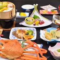 大山ハーブ鶏と蟹会席(イメージ)