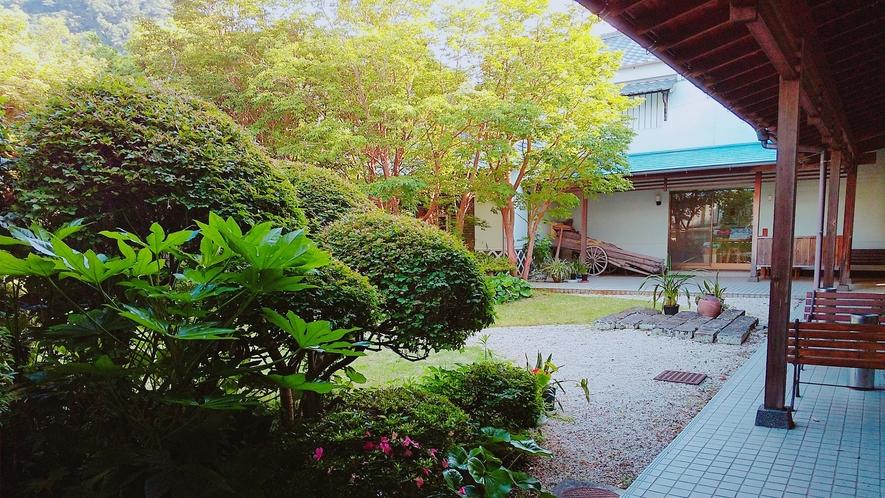 御宿しんしまの中庭