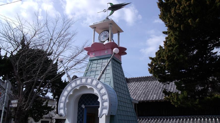 松崎町 ときわ大橋 時計台
