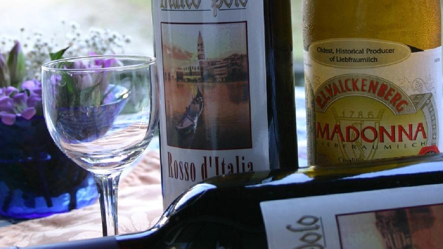 お食事一例 wine