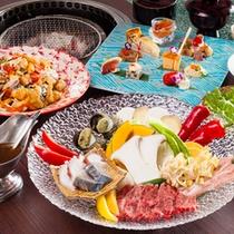 淡路島の食材が持つ本来の味を生かす島宝炭火焼コース≪料理イメージ≫