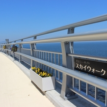 【ホテル周辺】大浜海水浴場から古茂江海岸へと続く海辺の遊歩道「洲本シーサイドスカイウォーク」