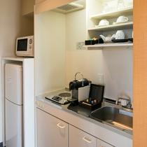 ≪ハーバーグランデ≫ちょっとした調理や温めに便利なミニキッチンも備えお子様連れのファミリーにもお勧め