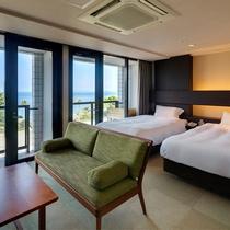 ≪オーシャンツインA≫紀淡海峡に面したオーシャンビューのお部屋です