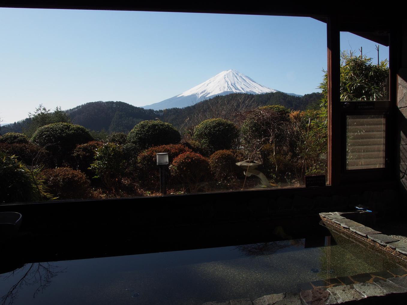 お風呂から富士山