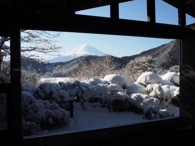 冬景色の風呂