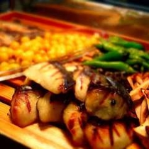 夕食バイキング「焼き物」一例