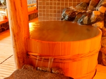 【大浴場】≪廿一の湯≫樽風呂