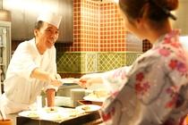 【お食事】スタッフが心の込めたお料理を是非、お召し上がり下さい。