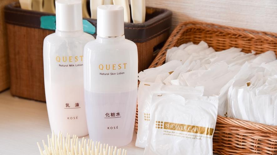 *【大浴場:女湯脱衣所】化粧水・乳液・くしなどもご用意しております。