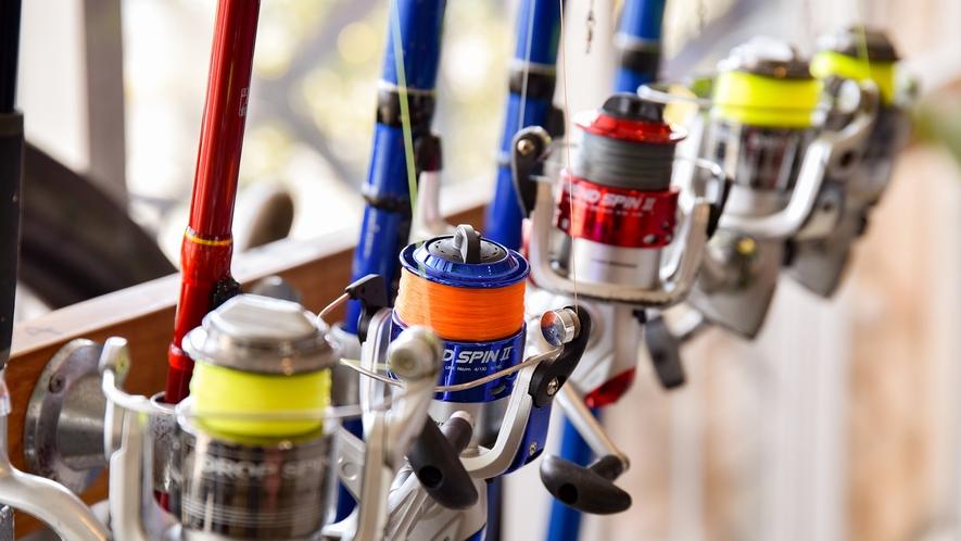 *【貸し出し品:釣具】釣った魚はなんと夕食追加メニューに登場!