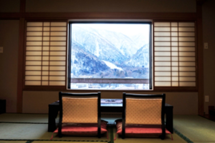 お部屋からの冬の眺望
