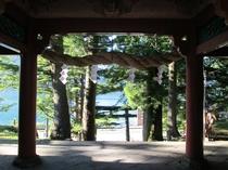 日光二荒山神社中宮祠からの中禅寺湖