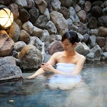 【露天風呂】亀川温泉:重炭酸土塩類泉