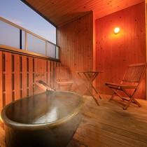 露天風呂付の客室もございます