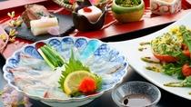 特選会席 豊後桜真鯛とかぼすひらめの食べ比べ(2021年春)