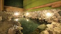 別府八湯の一つ亀川温泉の自家源泉(ナトリウム-塩化物・硫酸塩泉)