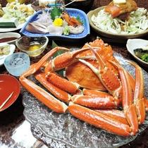 *【夕食一例/姿カニ】繊細で濃厚な味わいが特徴のズワイガニをたっぷりとどうぞ!