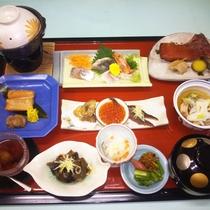 *鮭コース/お料理一例
