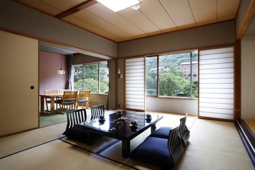 【山荘】庭園側・温泉シャワーブース付・一般客室