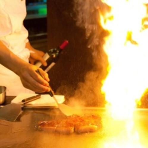 鉄板焼きステーキ(イメージ)