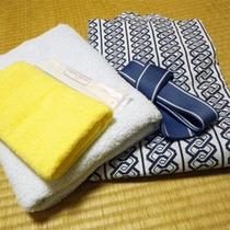 *アメニティ/浴衣、タオル、ハミガキセットのご用意がございます。