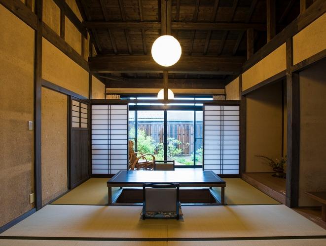 【夏】露天風呂付き客室-道路側