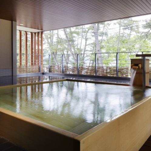女湯『弁財天』松林に抱かれる碁石の湯