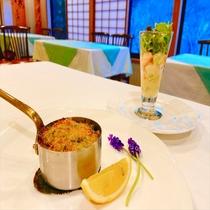 【夕食】前菜2種一例