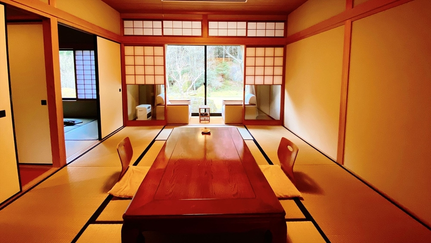 ◆【和室二間|定員4名】耶馬溪を望む専用庭園付き離れ