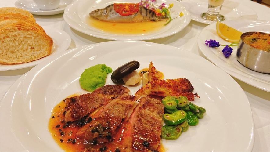 【夕食】肉料理/一例