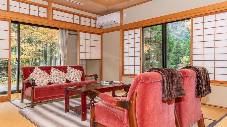 ●【和洋室|定員2名】ソファ付客室・専用庭園付き離れ