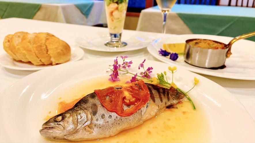 【夕食】魚料理/一例