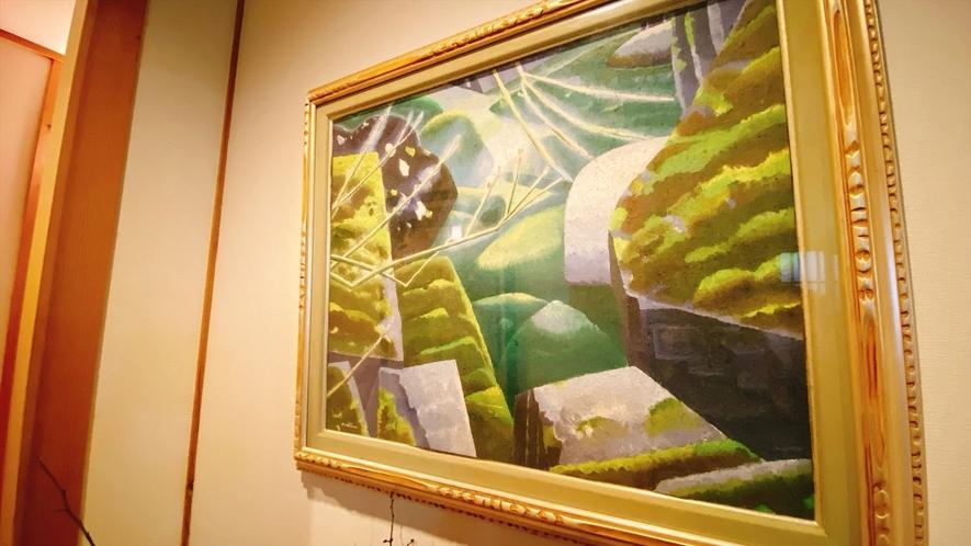 館内の絵画